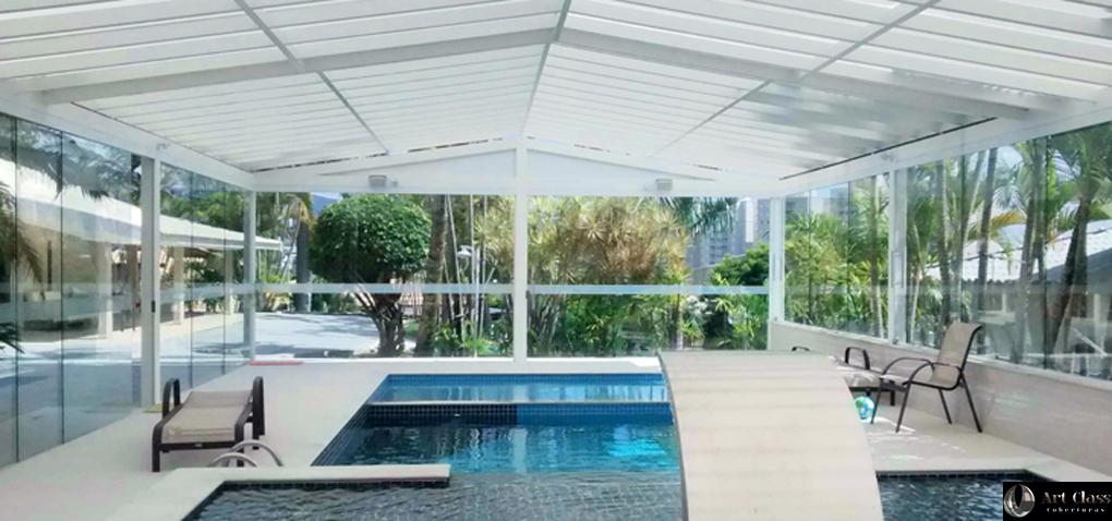 Cobertura cobertura policarbonato art class coberturas for Cobertura piscina